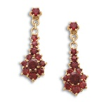 Garnet_cluster_earrings_2